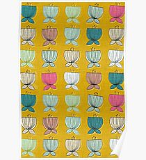 flower cups yellow Poster