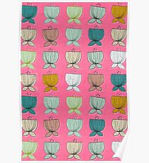 flower cups pink Poster