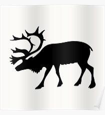 deer image on the background,vector illustration Poster