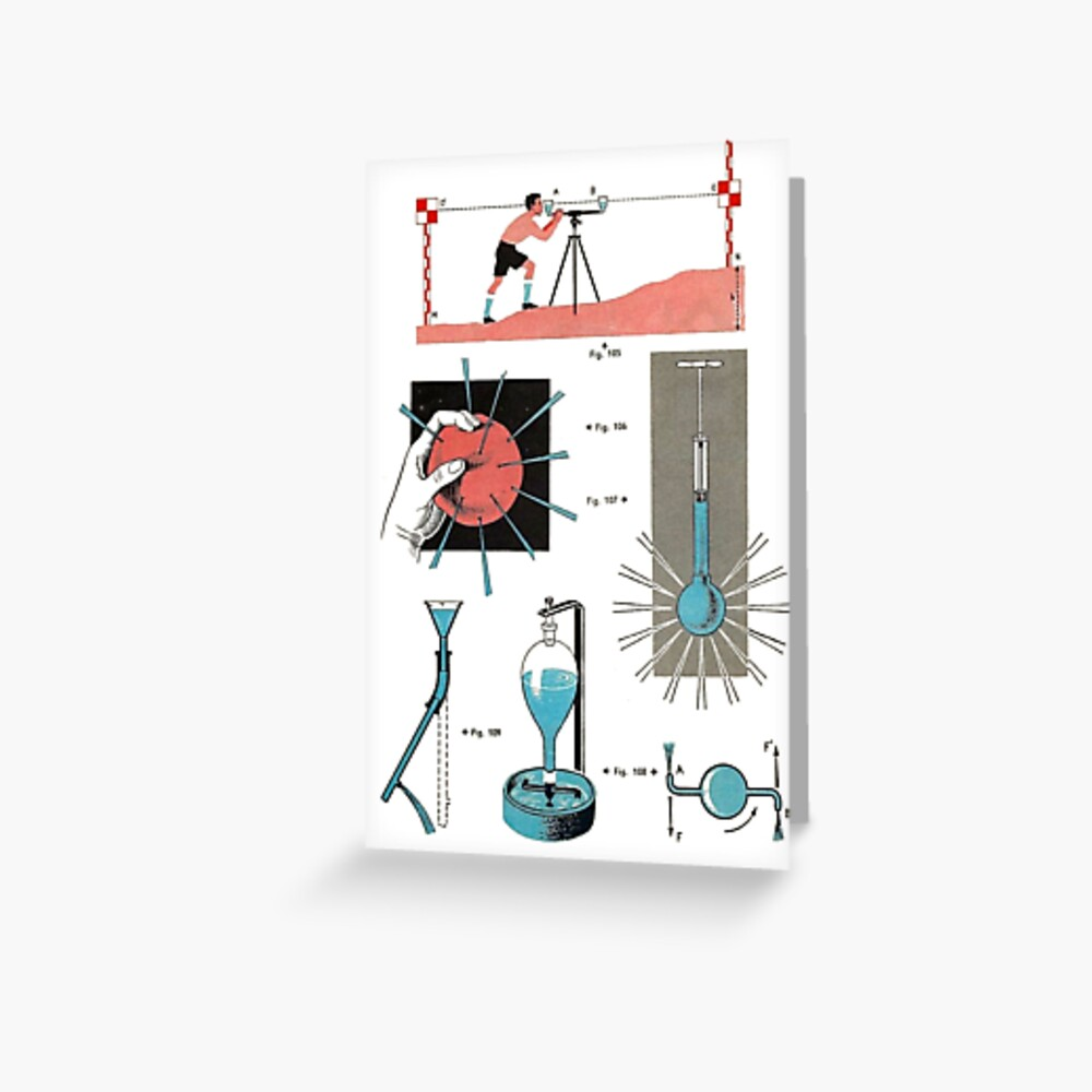Vintage Physics Poster Greeting Card