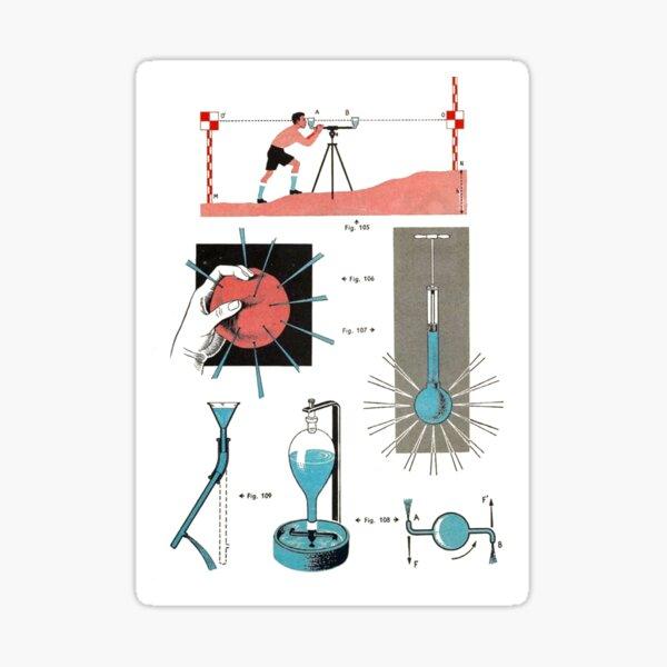 Vintage Physics Poster Sticker