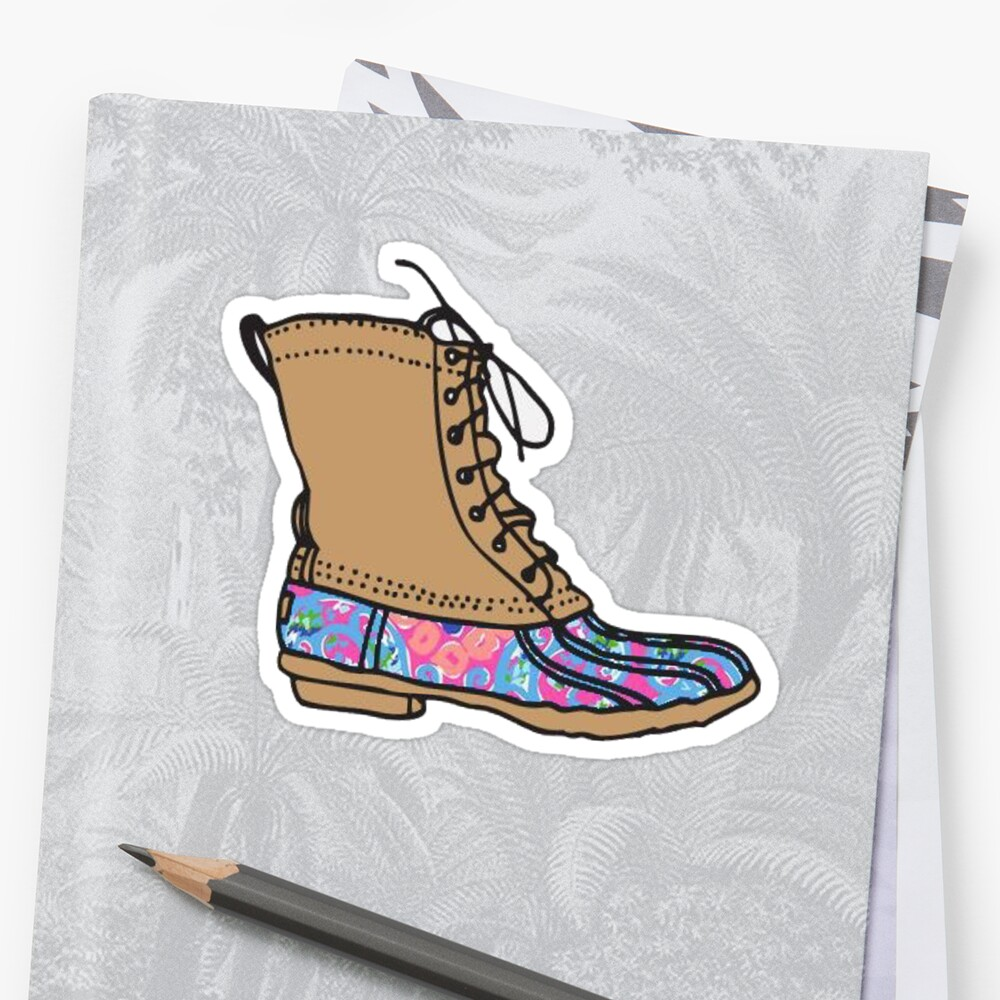 Quot Lilly Bean Boot Quot Stickers By Missgrumpypants Redbubble