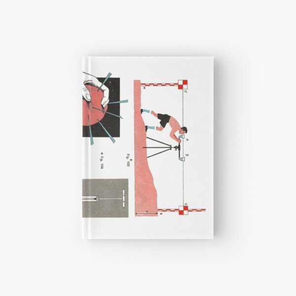 Vintage Physics Poster Hardcover Journal
