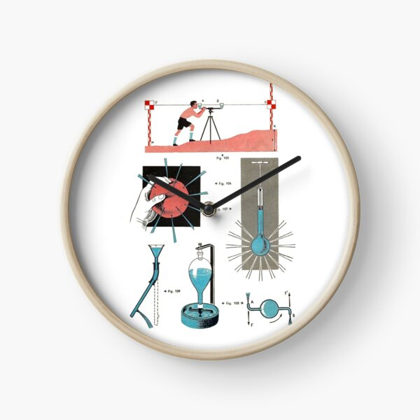 Vintage Physics Poster Clock