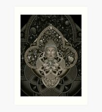 Cosmic Nirvana2 - black Art Print