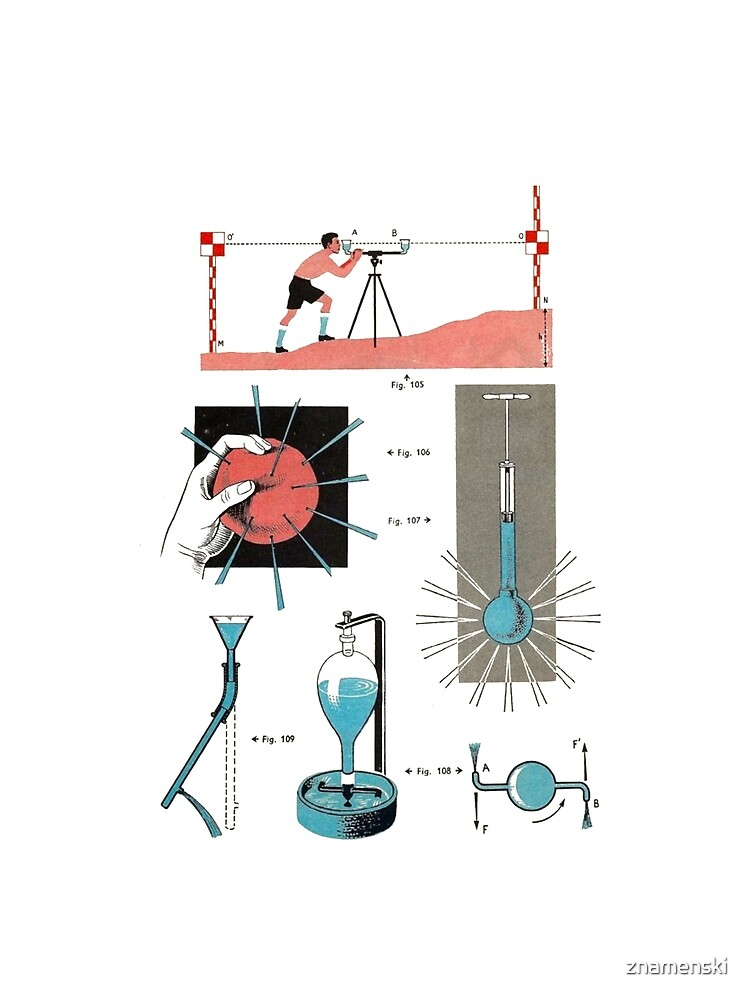 Vintage Physics Poster by znamenski