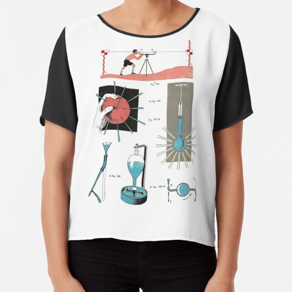 Vintage Physics Poster Chiffon Top