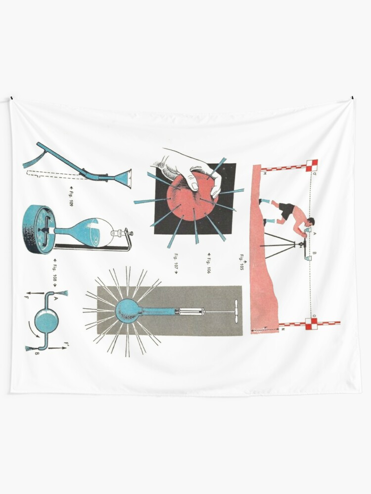 Alternate view of Vintage Physics Poster Tapestry