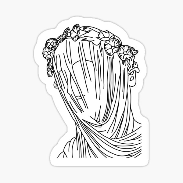 Veiled Statue Sticker