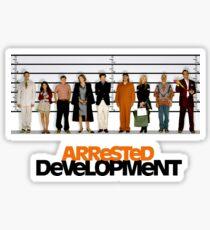 arrested development lineup Sticker
