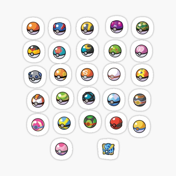 Pokeballs Sticker