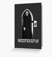 Nosferatu! - Spongebob Greeting Card