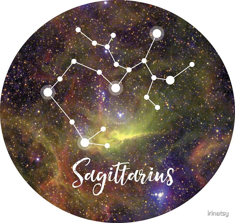 sagittarius zodiac sign november 22 december 21 stickers by irinatsy redbubble. Black Bedroom Furniture Sets. Home Design Ideas