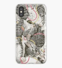 cats /rose and gold iPhone Case