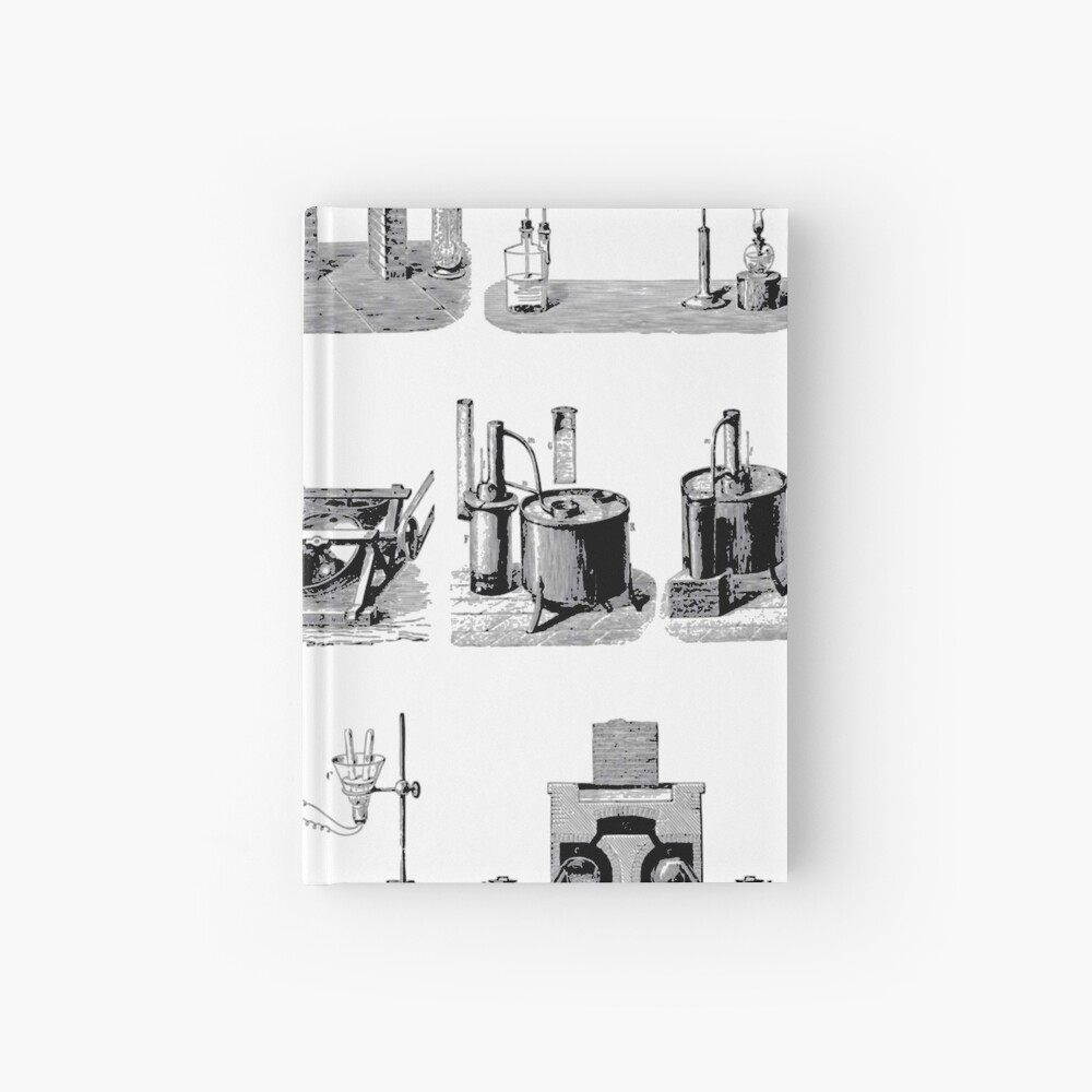 Vintage Science and Engineering Poster: Antique Chemistry Hardcover Journal