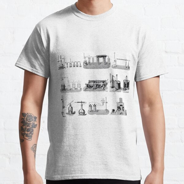 Vintage Science and Engineering Poster: Antique Chemistry Classic T-Shirt