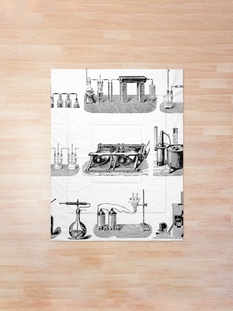 Alternate view of Vintage Science and Engineering Poster: Antique Chemistry Comforter