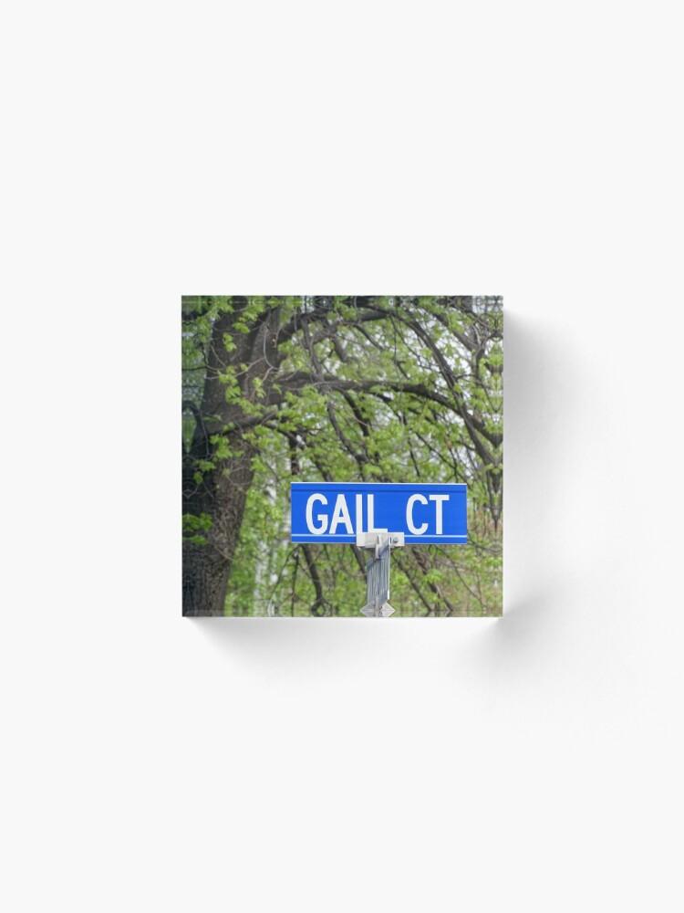 Alternate view of Gail, Gail mug, Gail magnet, Gail sticker, Gail mask Acrylic Block
