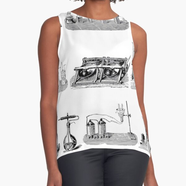 Vintage Science and Engineering Poster: Antique Chemistry Sleeveless Top
