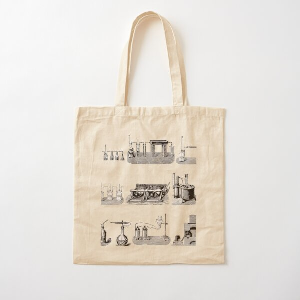 Vintage Science and Engineering Poster: Antique Chemistry Cotton Tote Bag