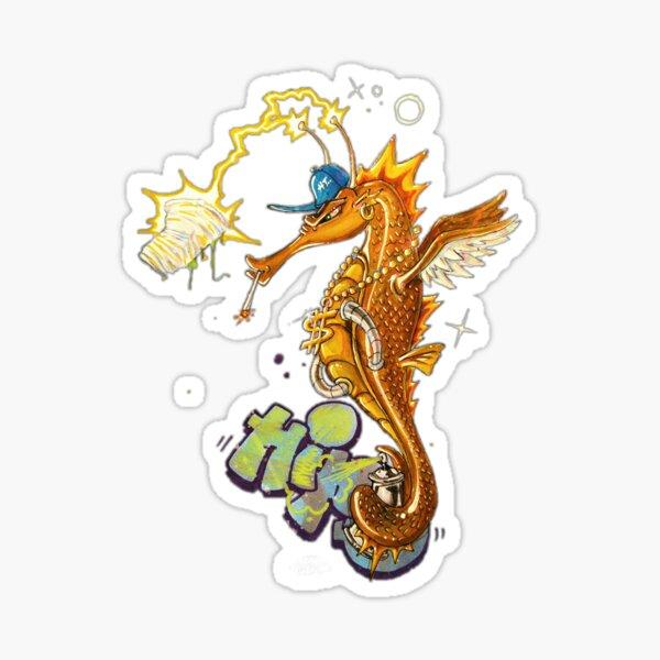 Seahorse save the sea Sticker