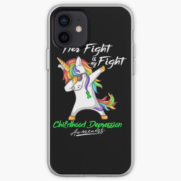 Her Fight Is My Fight Childhood Depression Awareness iPhone Soft Case