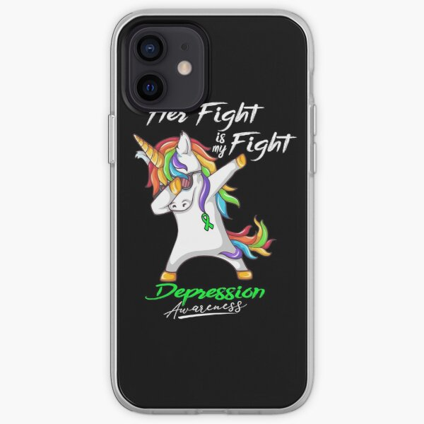 Her Fight Is My Fight Depression Awareness iPhone Soft Case