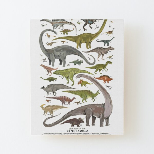 Dinosauria Wood Mounted Print