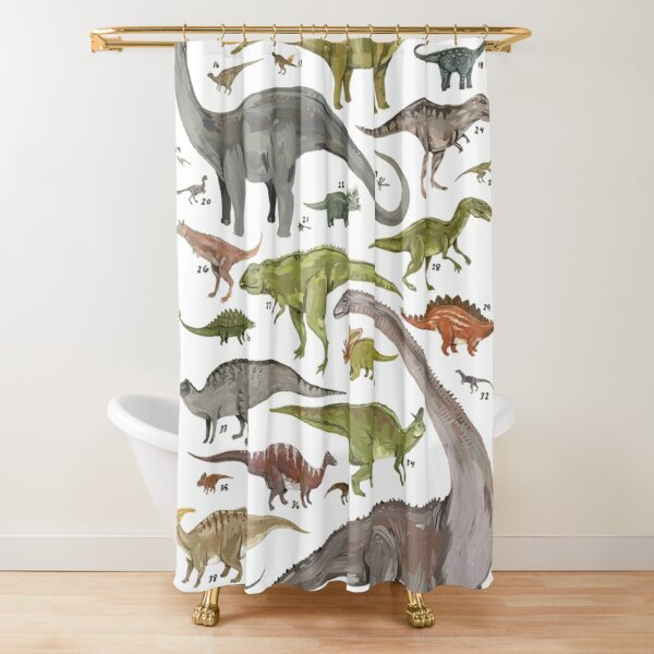 Dinosauria  Shower Curtain