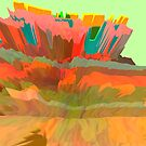 Candy Canyon (Glitch Art) by Brendan Coyle