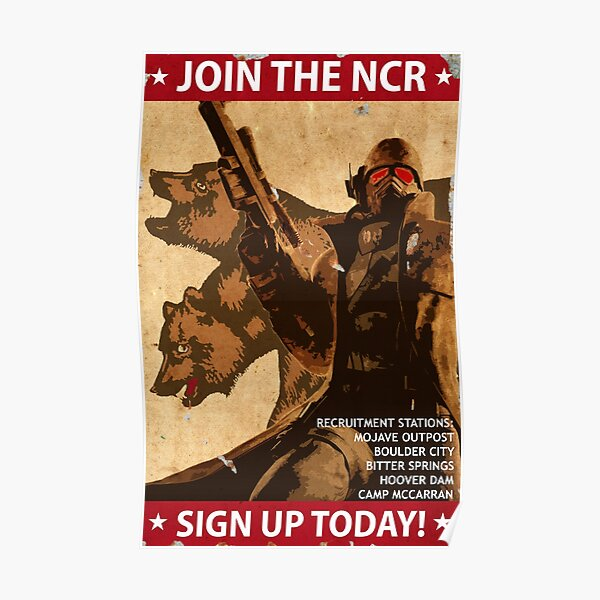 Fallout New Vegas se une al arte de propaganda de NCR Póster