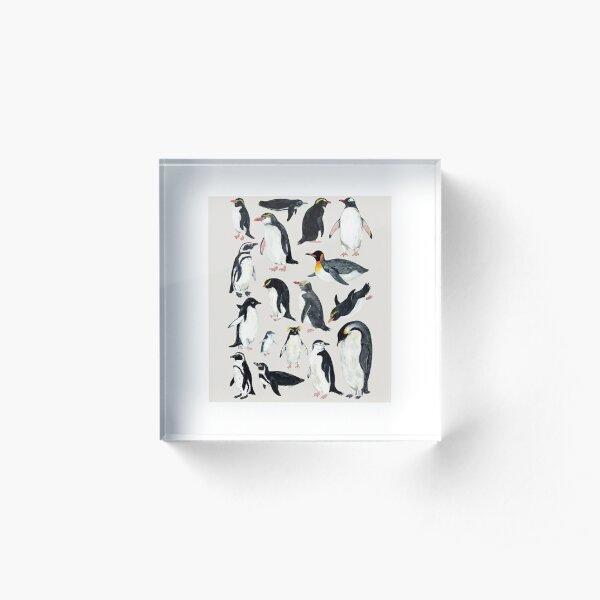 Penguins Acrylic Block