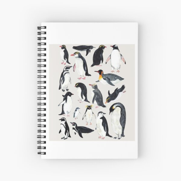 Penguins Spiral Notebook