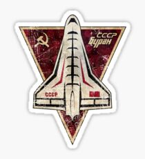 CCCP Space Shuttle Badge Sticker