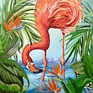 Flamingo Beach Revisited by Alma Lee