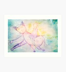 Cielo and I went out for walk Art Print