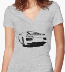 audi r8, r8 v10 Women's Fitted V-Neck T-Shirt