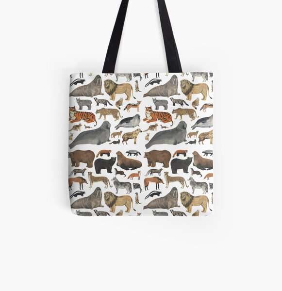 Wildlife Animals All Over Print Tote Bag