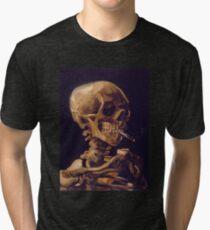 "Vincent Van Goghs ""Schädel mit brennender Zigarette"" Vintage T-Shirt"