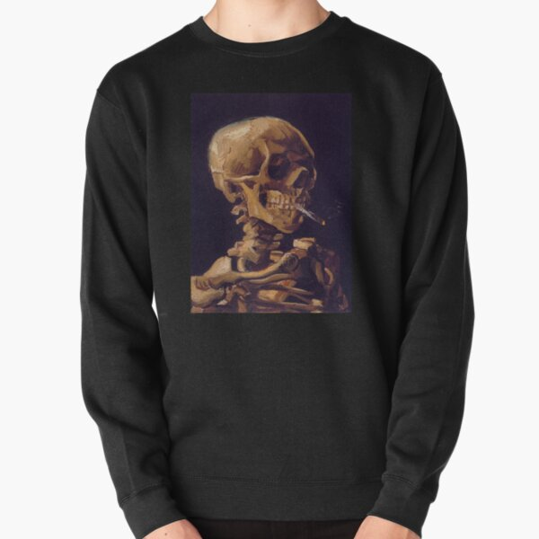 Vincent Van Gogh's 'Skull with a Burning Cigarette'  Pullover Sweatshirt