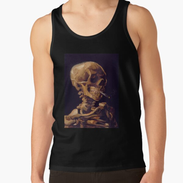 Vincent Van Gogh's 'Skull with a Burning Cigarette'  Tank Top