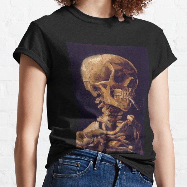 'El cráneo con un cigarrillo encendido' de Vincent Van Gogh Camiseta clásica