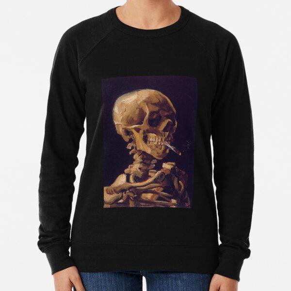 Vincent Van Gogh's 'Skull with a Burning Cigarette'  Lightweight Sweatshirt
