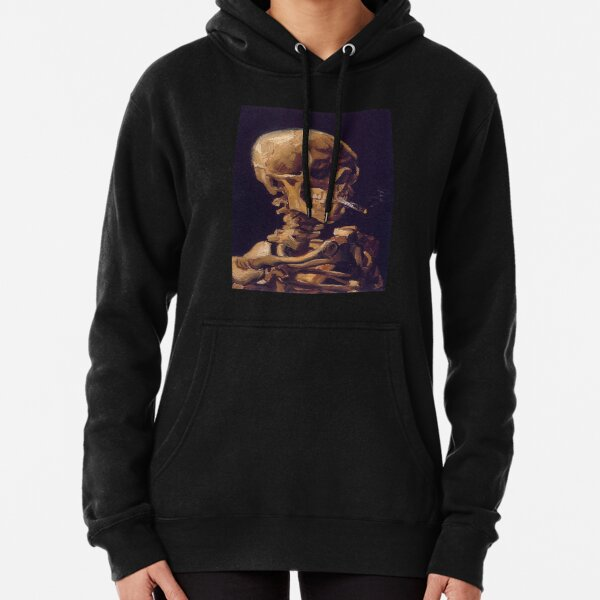 Vincent Van Gogh's 'Skull with a Burning Cigarette'  Pullover Hoodie