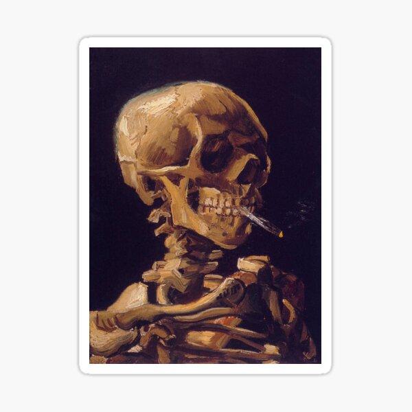 Vincent Van Gogh's 'Skull with a Burning Cigarette'  Sticker