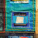 """Lilly Geometric Textile Art Series """"Loose Ends, Twelve"""" by Steve Chambers"""