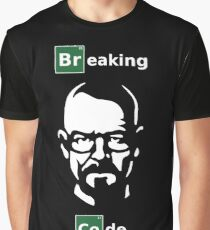 Breaking Code - White/Green on Black Parody Design for Programmers Graphic T-Shirt