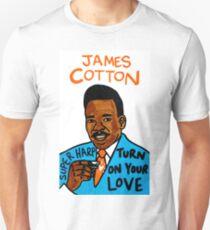 James Cotton Blues Folk Art T-Shirt