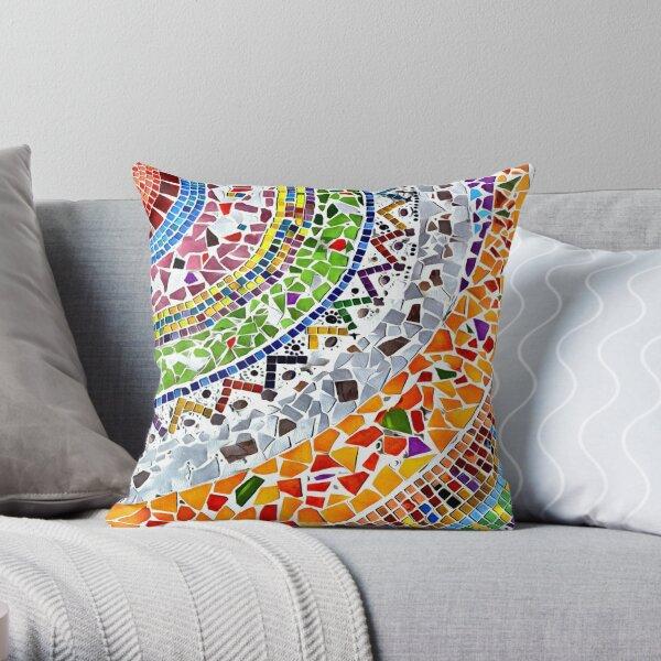 Gaudi Barselona mosaic Throw Pillow