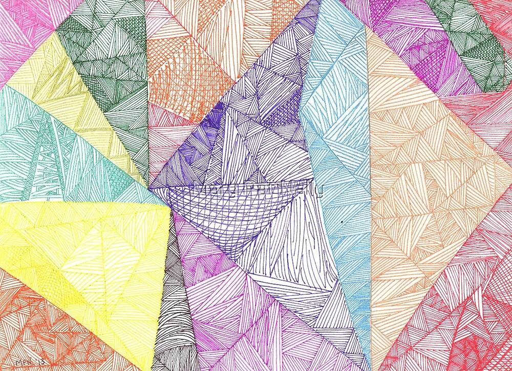 Geometric Artistic Design by Mary Pat Nally